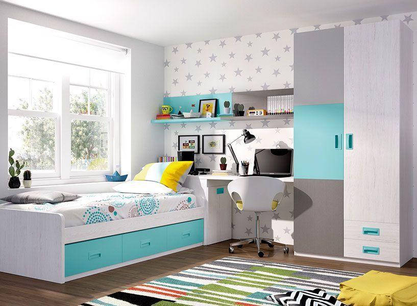Habitaci n juvenil cama nido zas5000130142 zasmobel - Ver habitaciones infantiles ...