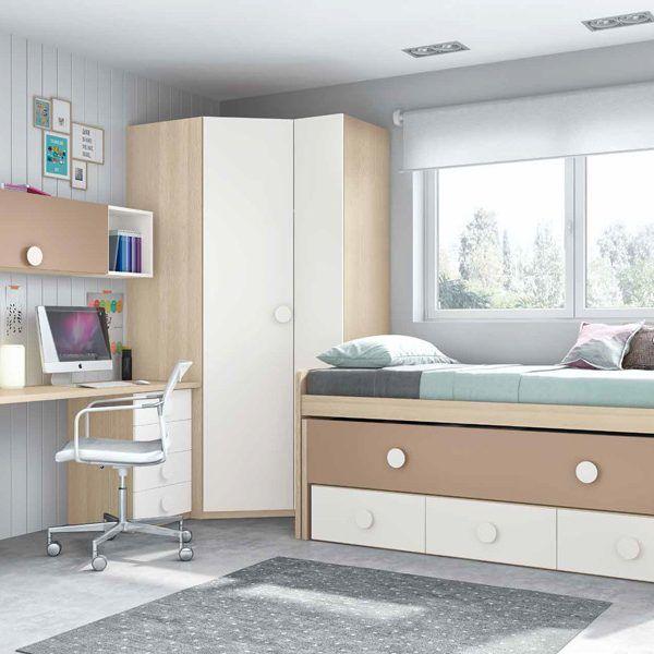 Habitaci n juvenil cama compacto zas5000100171 zasmobel for Compacto juvenil oferta