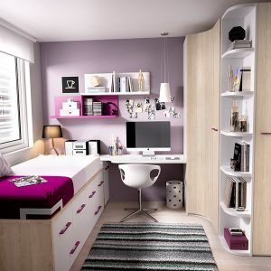 dormitorios compactos juveniles