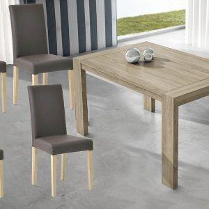 Conjunto mesas y sillas de comedor modernas y baratas - Mesa y 4 ...
