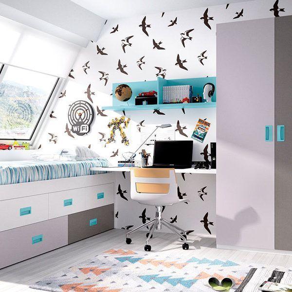 Habitaci n juvenil cama compacto zas5000130121 zasmobel for Compacto juvenil oferta