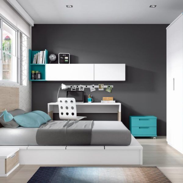 Habitaci n juvenil cama zas5000100232 zasmobel for Muebles modulares juveniles