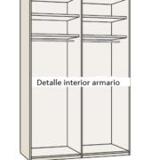 detalle interioar armario 4 puertas