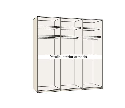 detalle interior armario